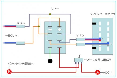 シフトリバース回路図