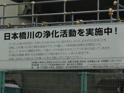 日本橋川浄化活動中その1