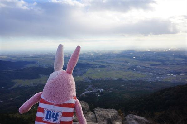 女体山山頂からの眺め