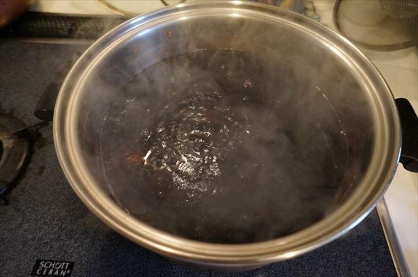 煮汁(水蒸気)