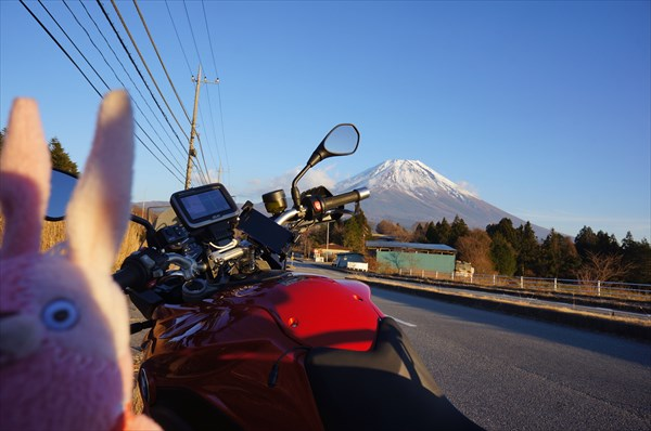 帰り道 GSと富士山
