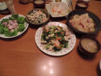 野菜たっぷりの夕食