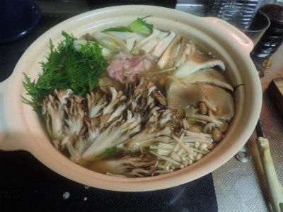 キノコ鍋1