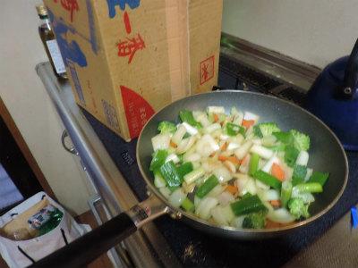 ローストチキンの詰め野菜2