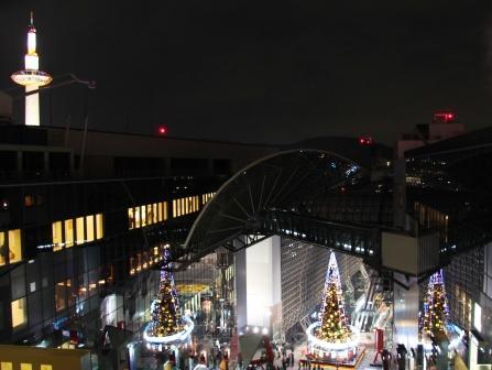 3本ツリーと京都タワー_H25.12.10撮影