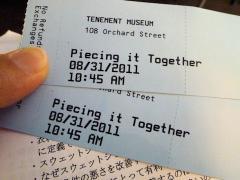 ツアーのチケット