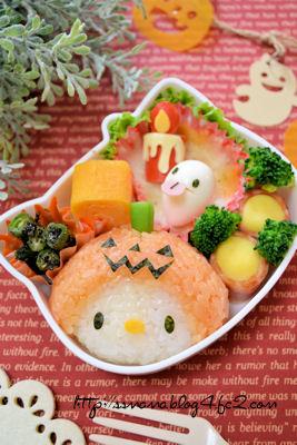 かぼちゃおばけキティちゃんのお弁当
