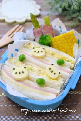 パンダちゃんサンドイッチ弁当