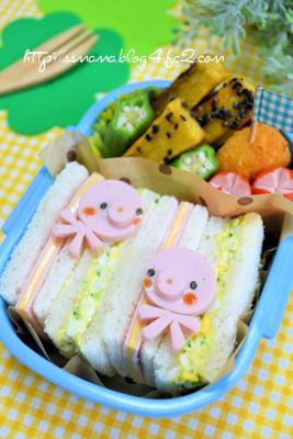 タコちゃんサンドイッチ弁当