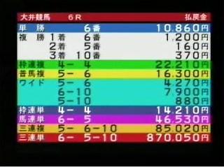 20111009大井6R的中2