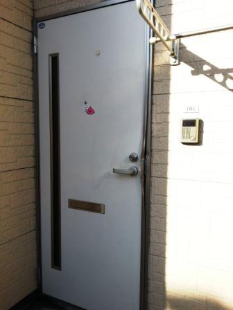 ホワイトウェーブ101の玄関ドア2