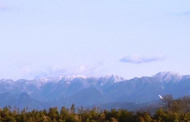 四国山地雪化粧