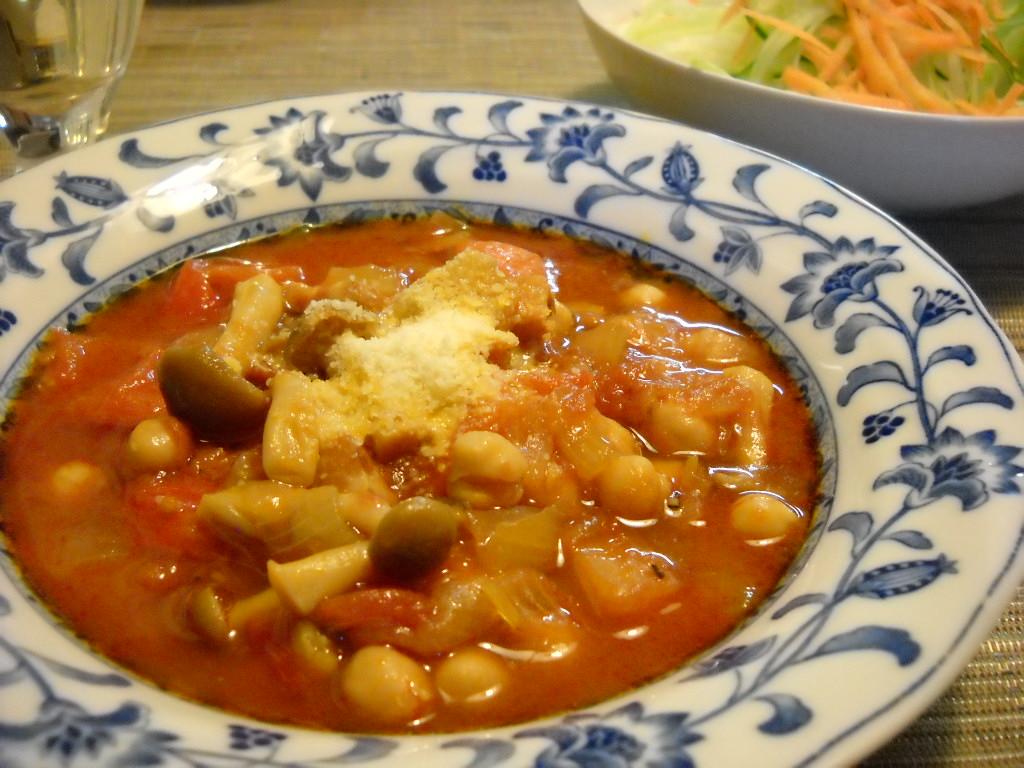 ひよこ豆とトマト