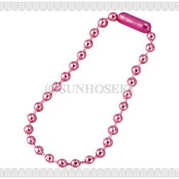 ピンク/ボールチェーン10cm