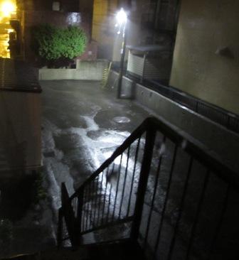数日間降り続いた雨
