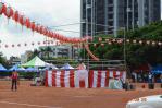 日本人学校夏祭り櫓
