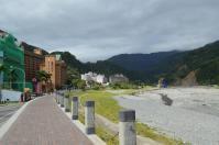 知本ホテル前の川上流側130208