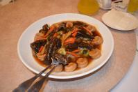 新荘翰品酒店披露宴料理の海鮮うま煮130303