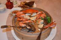 新荘翰品酒店披露宴料理の蟹おこわ130303
