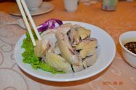 怡園渡假村2泊目夕食の蒸し鶏