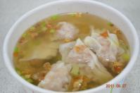 液香扁食のワンタンスープアップ