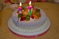 誕生ケーキに10のローソク130421