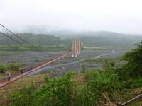 宜蘭大同郷の寒渓吊橋全景130210