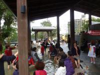 礁溪溫泉公園の無料足湯130211