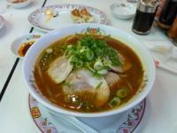餃子の王将の味噌チャーシュー麺130222