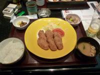 羽田国際線ターミナル江戸小路すぎのこのカキフライ定食130225