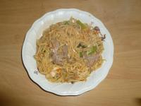 猪肝炒麺130417