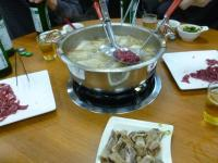 牛鍋涮牛肉の牛肉の食い方130423