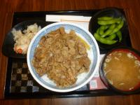 台湾吉野家の牛丼セット130506
