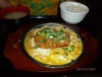 咖哩家@天母高島屋の葱卵とじカツ定食130612