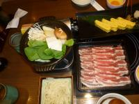 上都和食さと統一阪急店の豚肉すき焼き130622