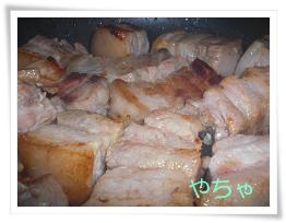 20120418豚バラ焼く
