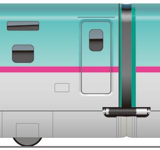E5系 新幹線 連結 アップ