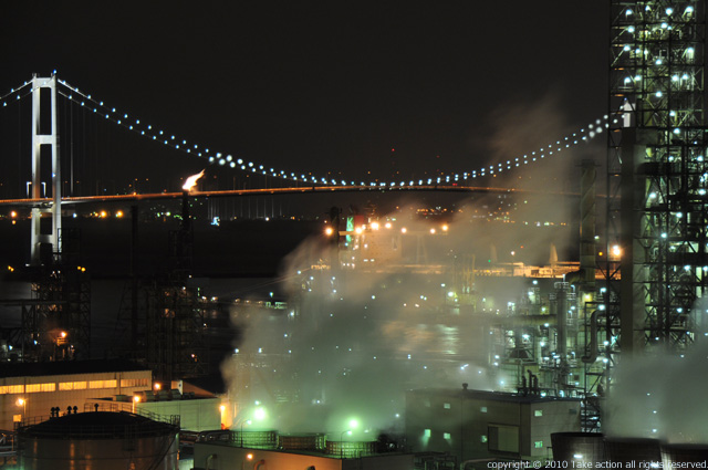 2011・9室蘭工場夜景1