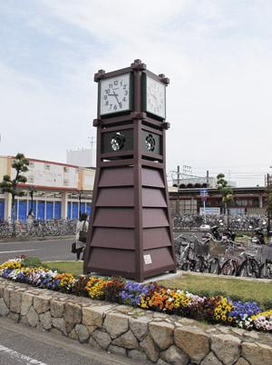 新清洲駅ロータリーの時計塔