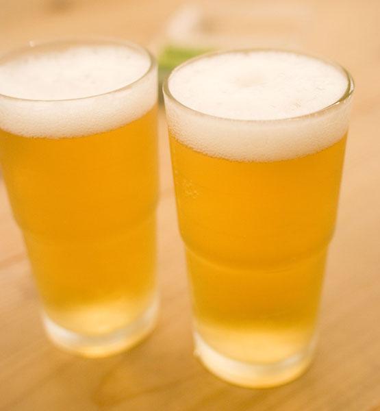 熱い熱いビール
