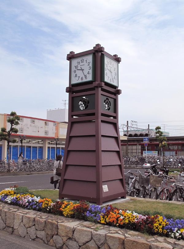 新清洲駅の時計台が完成しました