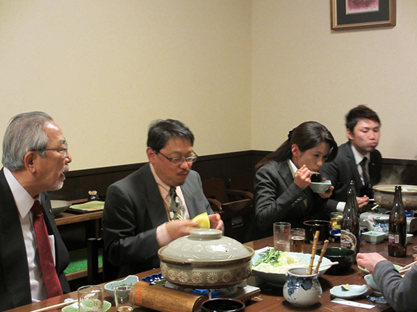 勝野先生との食事会