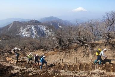 塔ノ岳山頂の眺め