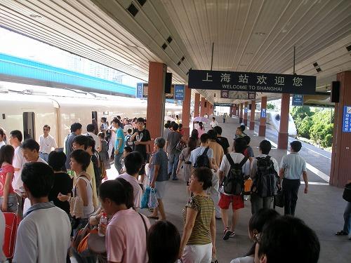 07081801上海駅 新幹線ホーム