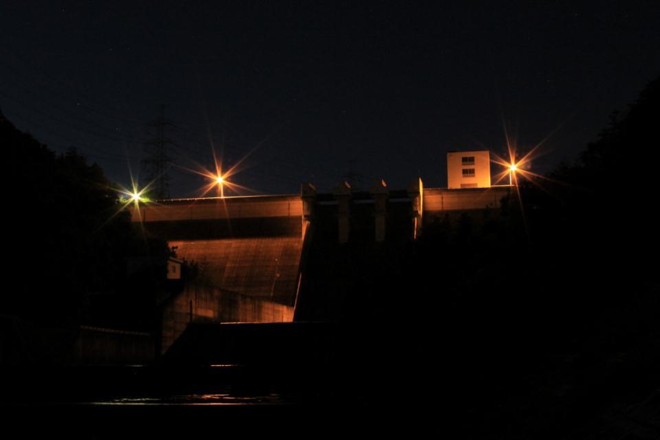 大川瀬ダム- 夜