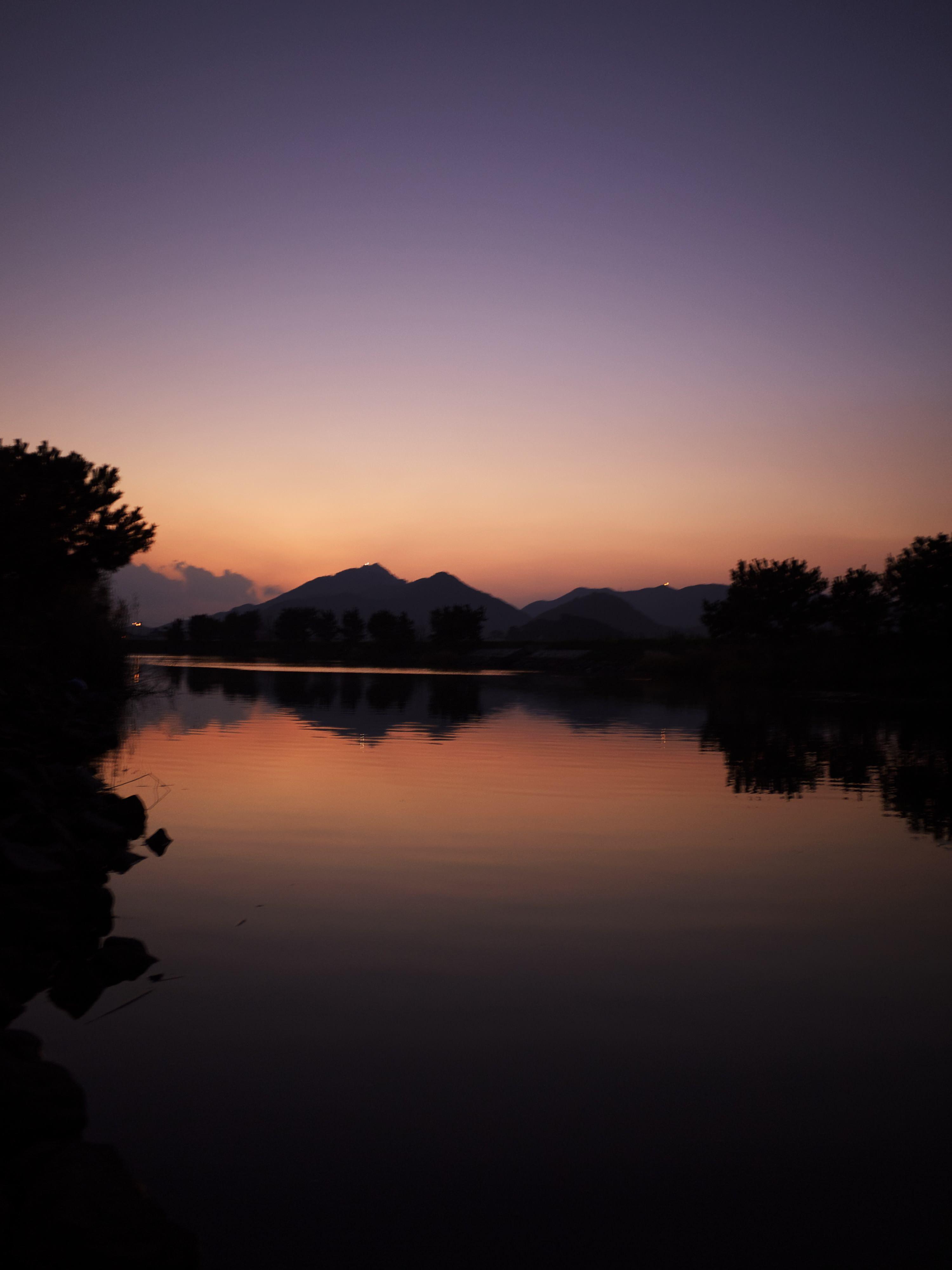 打樋川の夕焼け