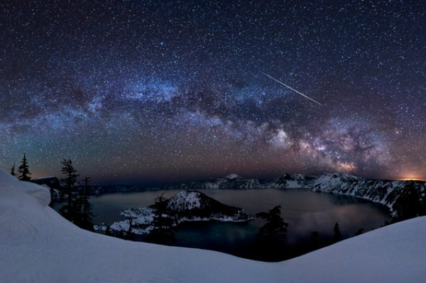 冬の雪と夜空のimage