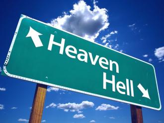 天国と地獄の標識なimage