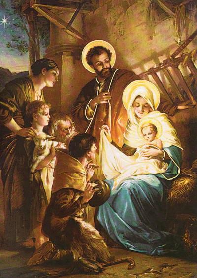 クリスマス(聖家族と羊飼い)image