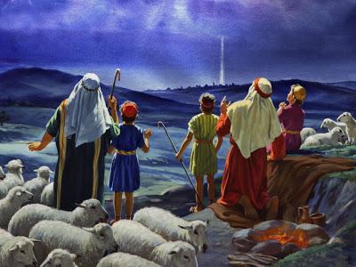 クリスマス(羊飼いたち上を見る)image